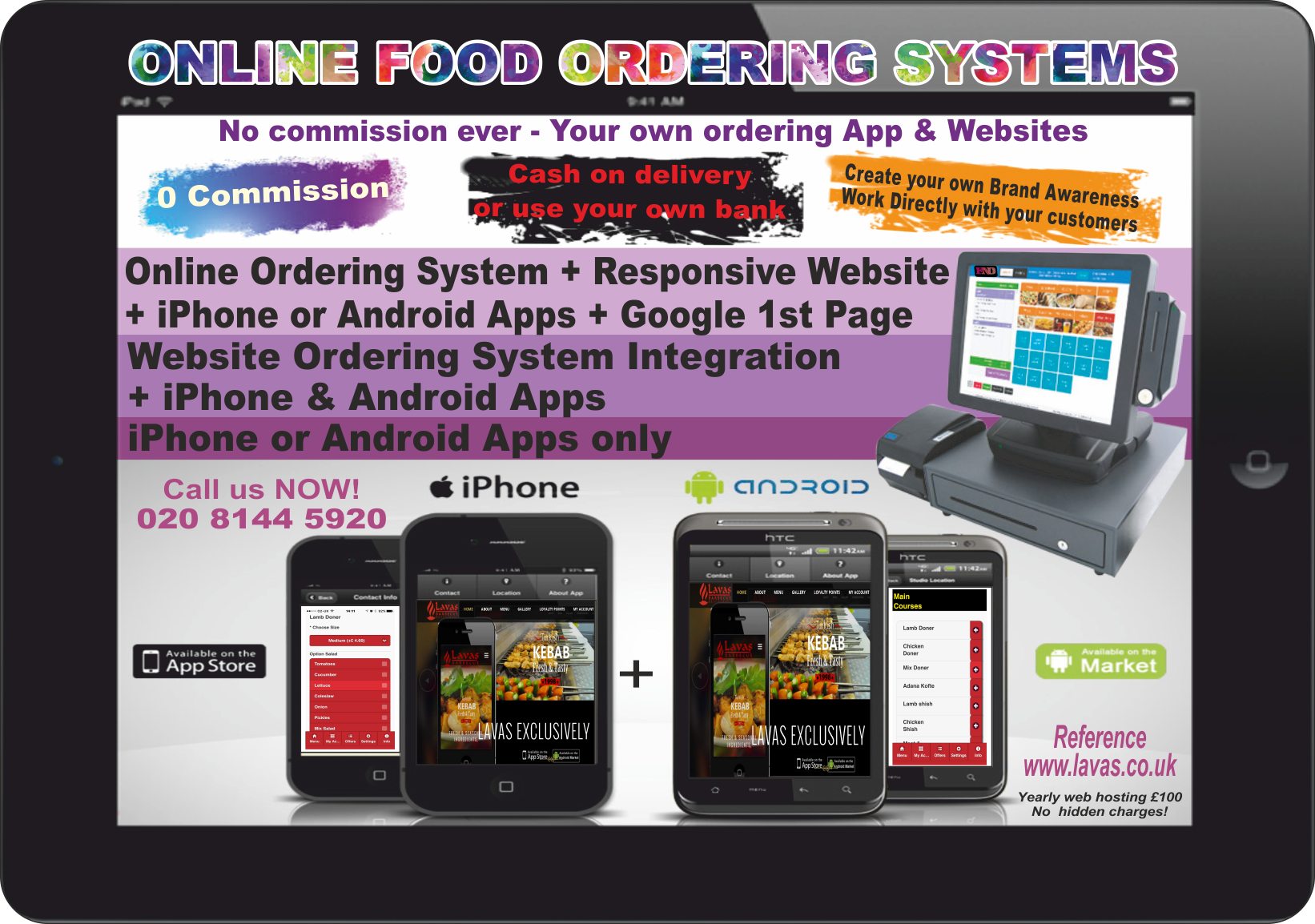 Online food Ordering System for Takeaways, Restaurants, Sandwich Shops and Cafes
